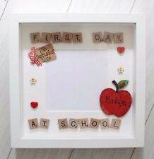 Personalised My First 1st Day at School Nursery Apple Scrabble Photo Frame Gift