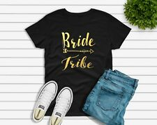 Bride Tribe T-shirt or Diy Iron on Vinyl Transfer Wedding Hen Party To Be