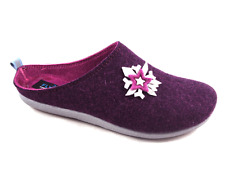 FLY FLOT F4684 DT VIOLA CIABATTE DONNA MADE IN ITALY VERA LANA 80%
