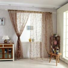 Butterfly Sheers Cortinas Voile Tulle Floral Ventana Cortina Puerta Bufanda