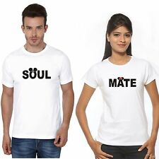 Polyester Couple TShirt Soul Mate Miky Mini For Hot & Sexy Couples Crazy in Love
