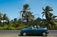 "Bildmotiv ""RAROTONGA - SEP 21:Woman travel by car in Rarotonga Island on Sep..."""