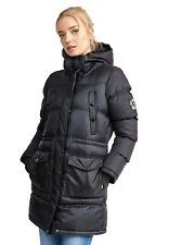 Women's Long Quilted Parka Jacket Warm Winter Sherpa Lined Hooded Parka Coat