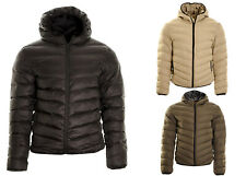 Men's Hooded Puffer Quilted Padded Bomber Jacket Parka Coat S,M,L,XL