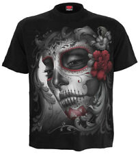 SPIRAL DIRECT SKULL ROSES Front Print T-Shirt/Skull/Rock/Metal/Biker/Goth/Top