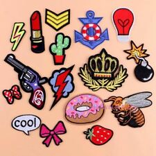 Sewing Clothes Gun Patch Iron On Embroidery Patches Hotfix Applique Motifs Sew O