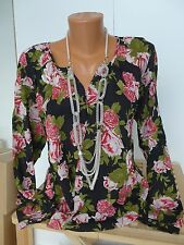 S.OLIVER Chemise blouse tunique taille 36 - 38 manches longues (002) NEUF