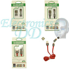 Cable de Datos y Carga Smartphone sistema Android MicroUSB & Apple Iphone 5 / 6