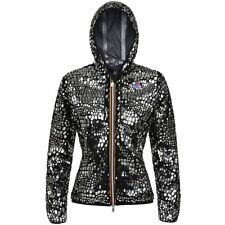 K-WAY giacca DONNA LILY FOIL mirror fashion CAPPUCCIO ZIP Aut/inv NEW KWAY K02wj