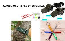 combo of Outdoor Camping Hiking Emergency Whistles Sports Refreee