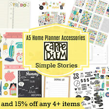 Carpe Diem DOMESTIC BLISS & HOME A5 Planner accessories A5 Inserts Stickers etc