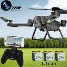 Selfie Fold Altitude Hold Camera WIFI FPV RC Quadcopter Pocket Drone 3 Battery