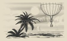 """Bildmotiv """"Hot air balloon flying over the sea shore. Traveling or air journ..."""""""