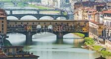 """Bildmotiv """"Ponte Vecchio in Florence with Tourists in a sunny day"""""""