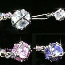 SALE Bridesmaid 18K White Gold Plated made with Swarovski Crystal Necklace P165