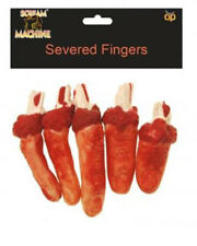 Fancy Dress Halloween Severed Fingers Prop Decoration 5 fingers Thumb Bloody