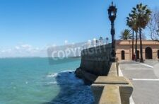 "Bildmotiv ""Boardwalk of Cadiz, Genoves Park, Andalusia, Spain. Sea, Sunny da..."""