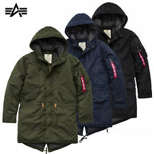 Alpha Industries Herren Jacke Hooded Fishtail CW TT Parka Mantel S bis 3XL NEU