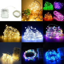5/10M 50/100LEDs Waterproof Battery Christmas Party Wedding Fairy String Light