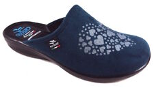 FLY FLOT P3949 WD PETROLIO CIABATTE DONNA MADE IN ITALY SOTTOPIEDE ANATOMICO ZEP