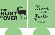 The hunt is over wedding koozie no minimums can coolers quick ship e07022015
