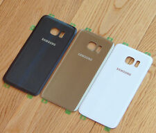 New OEM Samsung Galaxy S7 G930 Back Rear Glass Battery Cover + Adhesive UK