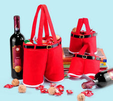 CHRISTMAS PARTY RED XMAS CANDY BAG SANTA CLAUS PANTS FILLER TROUSERS GIFT