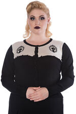 Vintage Gothic Victorian Skull Sawyer Cardigan Plus Size from Banned Apparel