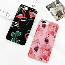 Cartoon Matte Hard Flamingo Animal Shockproof Phone Case For iPhone 6 6S 7 Plus