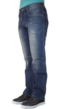 THUG LIFE jeans dritto fit scuro Blue lavare