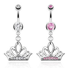 "Piercing de Ombligo"" TIARA CROWN ""Big Circonia 2 COLORES - coolbody"