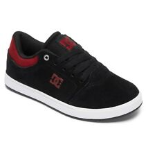 DC SHOES CRISIS  BLACK DARK RED YOUTHS TRAINERS