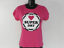 Superdry Camiseta - SUPER me PIN BADGE Boyfriend Tee - gs1ga587 15r PUNK Fucsia
