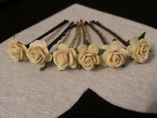 6 ROSE HAIR GRIPS 60 colours accessories wedding bridal dancing party dance