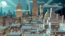 "Bildmotiv ""Cityscape at night. Basic (linear) gradients used. No transparency."""
