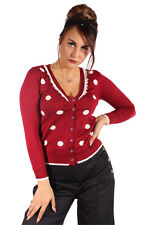 50s pin up retro POLKA DOTS Häkelspitzen Cardigan rockabilly Weste