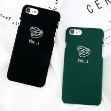 Cute Cartoon Couple Ring Letter YOU,I Hard Phone Case Cover For iPhone 7 7 Plus