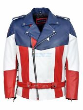 Captain America The First Avenger Hot Version  Real Cow Hide Leather Jacket