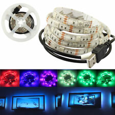 RGB LED Strip Light TV Background Lighting Kit RED GREEN BLUE With 5V USB Cable