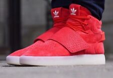 *SALE* adidas Originals Mens Tubular Invader Strap Trainers  - Red and White