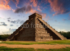 "Bildmotiv ""The Feather Serpent - Equinox in Kukulkan Pyramid, Chichen Itza"""