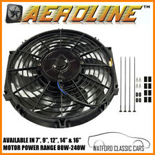 "Aeroline Cooling Fan For Vintage & Classic Cars  7"",9"",12"",16"" plus Thermostat"