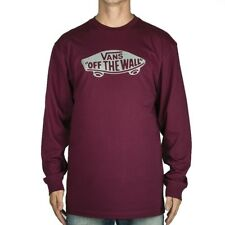 VANS OTW LONG SLEEVE T SHIRT  BURGUNDY FROST GREY