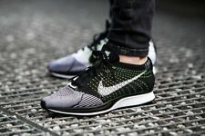 Nike Flyknit Racer  Running Trainers Shoes 100% GENUINE 526628 011 Black/White