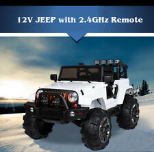 Kids 12V Electric Ride On Jeep Truck with RC / Remote Control, Radio/MP3, White