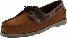 NEW Mens SPERRY TOP-SIDER Brown Buc Suede Leather LEEWARD 2-Eye Boat Shoes