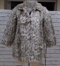 NEW RIVER ISLAND SNOW LEOPARD ANIMAL PRINT FAUX FUR COAT JACKET 6 to 14 RRP £90