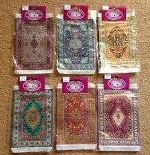 Dolls House Miniature 1/12th Scale Turkish Style Patterned Rug - 10cms x 14cms