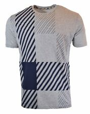 55% OFF | AQUASCUTUM LARGE SCALE CHECK PRINTED T-SHIRT GREY/NAVY 021559021 RARE