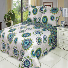 Julia Cool Oversize Coverlet Set Luxury Microfiber Quilt by Royal Hotel